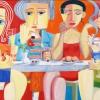 """Paul Revellio """"Sekttrinker"""" 2013 130 x 210 cm"""
