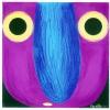 Glotzer Farblithographie 18 x 18 cm 2014 Violett klein