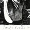 Vier Villinger Narren 2018 Lithographie 18 x 26 cm Detail klein