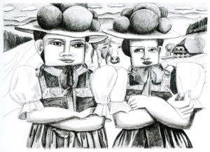Brandstifterinnen 2016 Lithographie