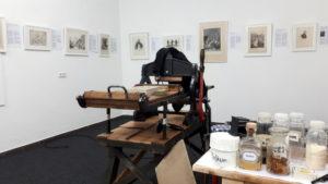 Historische Lithopresse Ausstellung Paul Revellio Königsfeld 2021